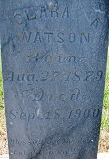 Clara A. <i>Brewer</i> Watson