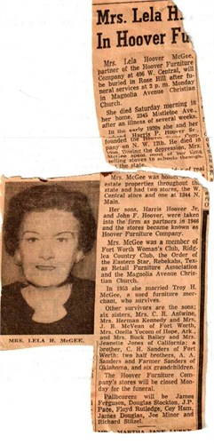 Lela Ann <i>Sanders</i> Hoover McGee