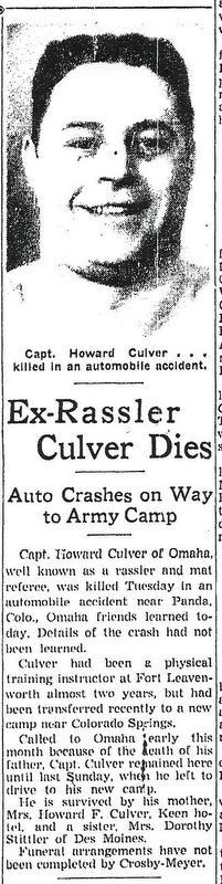 Capt Howard D Culver