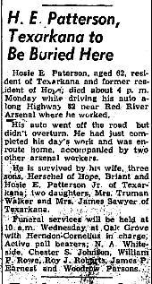 Hosie E Patterson