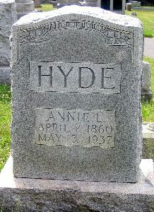 Annie L. <i>Cootes</i> Hyde
