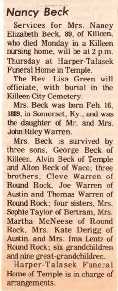 Nancy E. <i>Warren</i> Beck