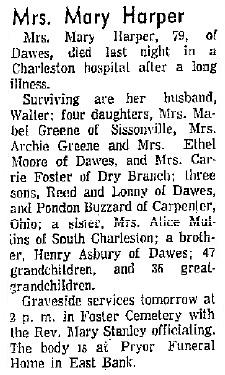 Mary Quindora <i>Asbury</i> Harper