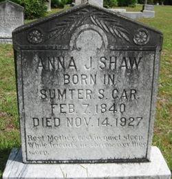 Anna Jeanette <i>McFaddin</i> Shaw