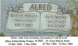 Mollie Mary Edda <i>Phelps</i> Alred