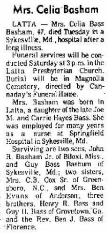 Celia <i>Bass</i> Basham