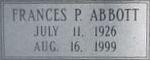 Frances Pearl <i>Alexander</i> Abbott