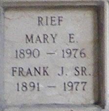 Frank J Rief, Sr