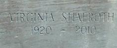 Virginia Ginney <i>Shafroth</i> Newton