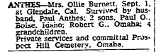 Ollie Carola <i>Burnett</i> Anthes