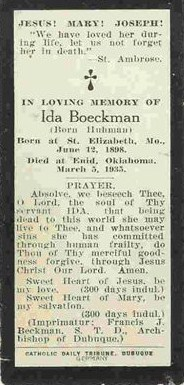 Ida <i>Huhmann</i> Boeckman