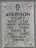 Edgar F Atkinson
