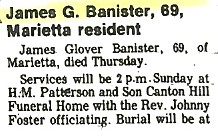 James Glover Banister