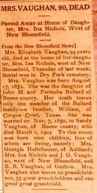 Elizabeth Martha <i>Bullard</i> Vaughan