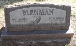 Alice Martha <i>Chamberlin</i> Blenman