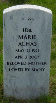 Ida Marie <i>Barr</i> Achas
