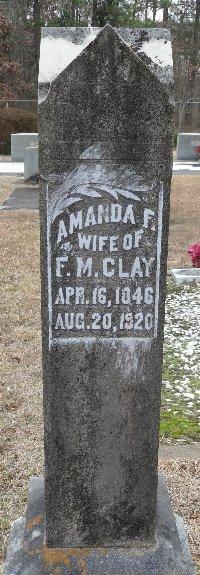 Amanda F <i>Hatcher</i> Clay