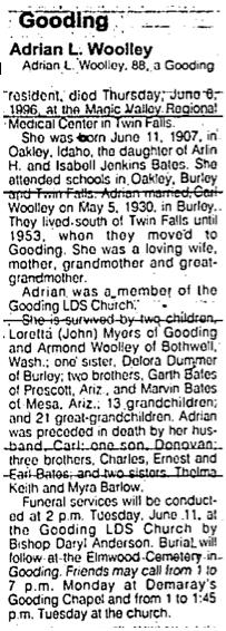 Adrian L <i>Bates</i> Woolley
