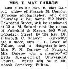 E Mae Darrow