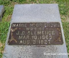 Mary Mamie <i>Grierson</i> Clemence