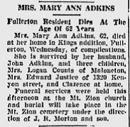 Mary Anna <i>Bishop</i> Adkins