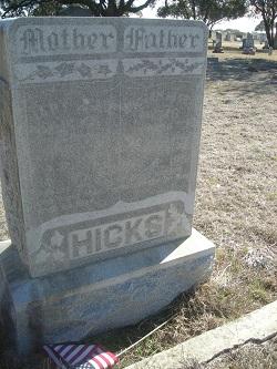 Mary Jane <i>Vance</i> Hicks