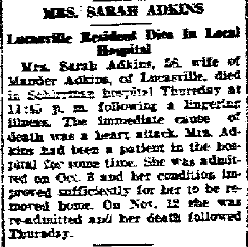Sarah Alice <i>Lewis</i> Adkins
