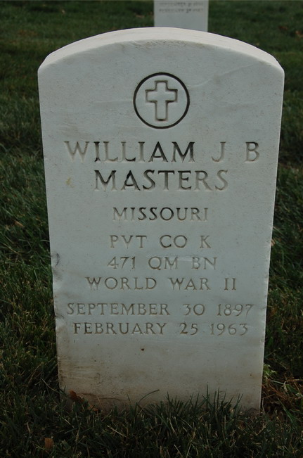 Find a grave william masters