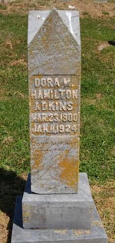 Dora M <i>Hamilton</i> Adkins