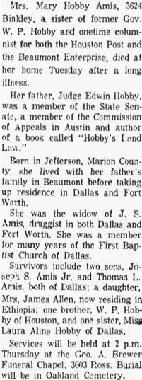 Mary <i>Hobby</i> Amis