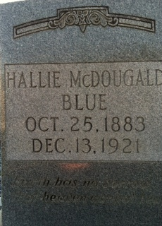 Harriet Eleanor Hallie <i>McDougald</i> Blue