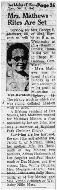 Ruth <i>Hockmuth</i> Mathews