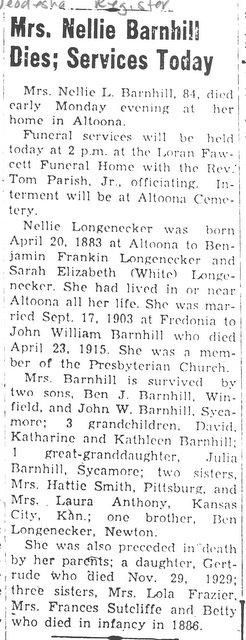 Nellie <i>Longenecker</i> Barnhill