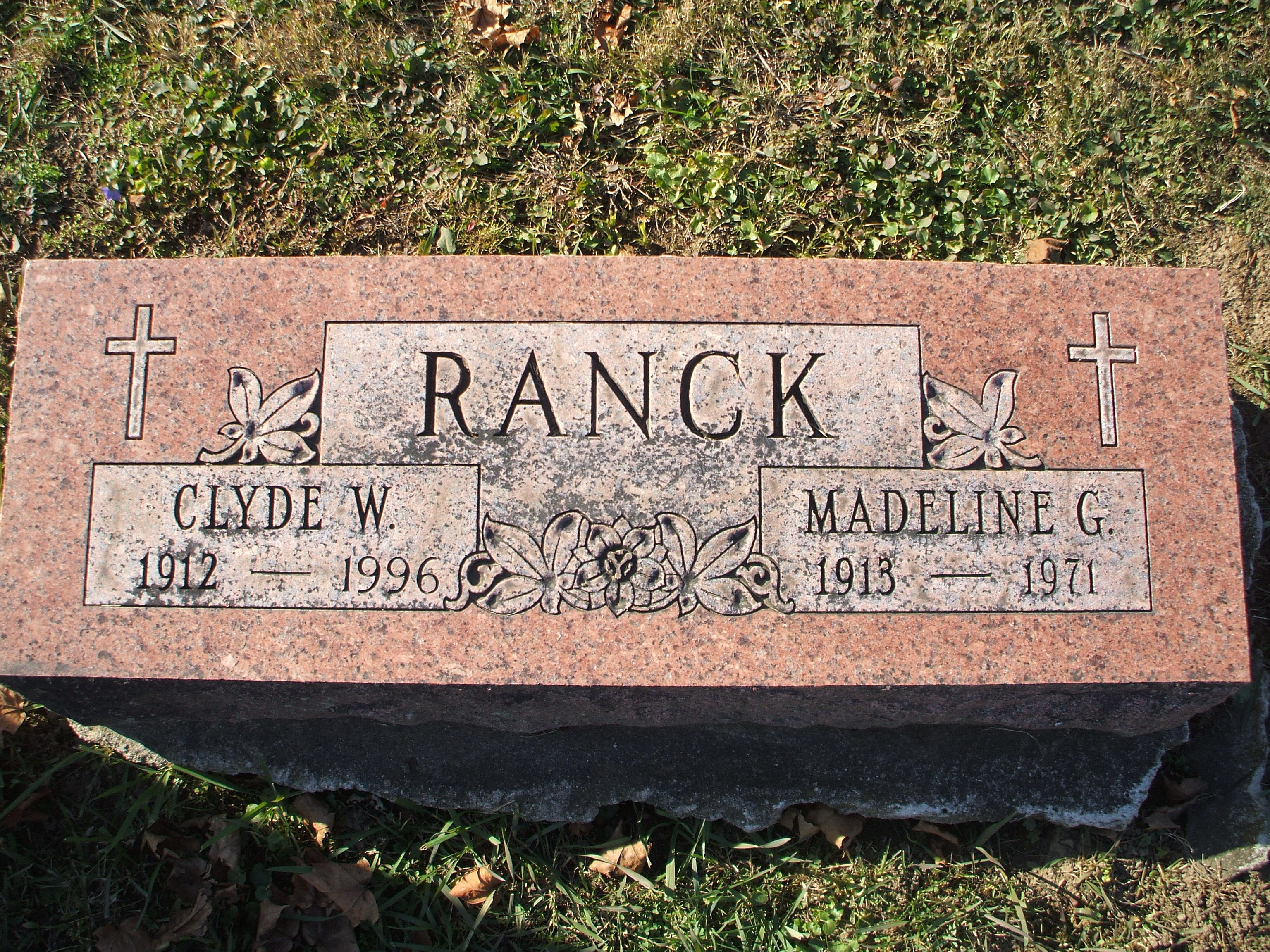 Clyde W Ranck  Tombstone