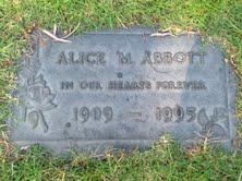 Alice M <i>Wright</i> Abbott