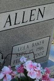 Lula <i>Baker</i> Allen