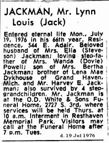 Lynn Louis Jack Jackman