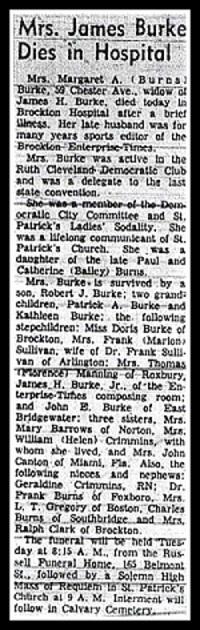 Margaret Anna <i>Burns</i> Burke