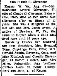 Mary Katherine <i>Avers</i> Clevenger