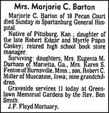 Marjorie <i>Caskey</i> Barton