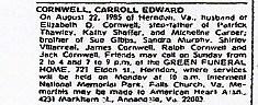 Carroll Edward Cornwell