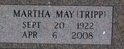Martha May <i>Tripp</i> Holmes