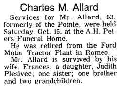 Charles M Allard