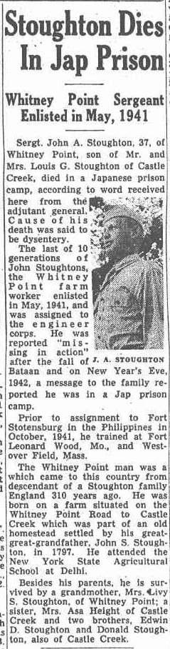 Sgt John A Stoughton