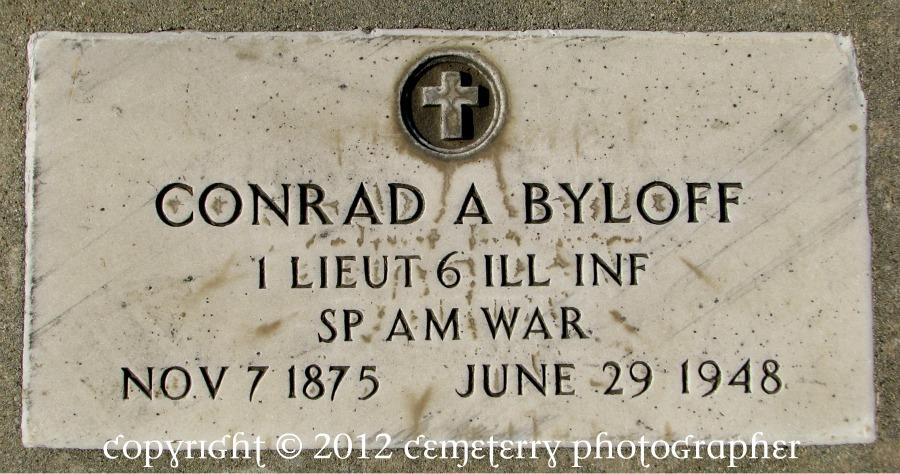 Conrad A. Byloff grave marker, Los Angeles.