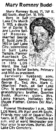 Mary Adelaide <i>Romney</i> Budd