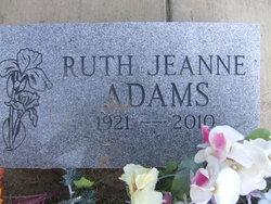Ruth Jeanne <i>Weitze</i> Adams