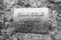 Ella Nora <i>Cole</i> Adams