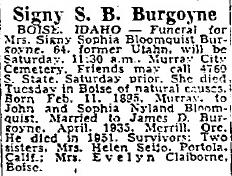 Signy Sophia <i>Bloomquist</i> Burgoyne