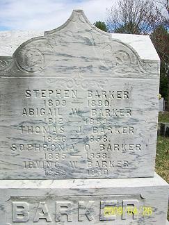 Abigail W Barker